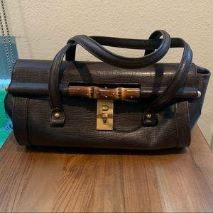Gucci Leather Bamboo Bullet Shoulder Bag